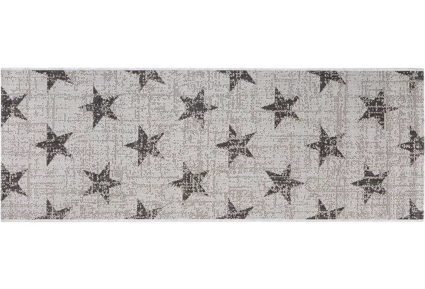 Andiamo Läufer Arizona Stern Grau gemustert 67 x 180 cm