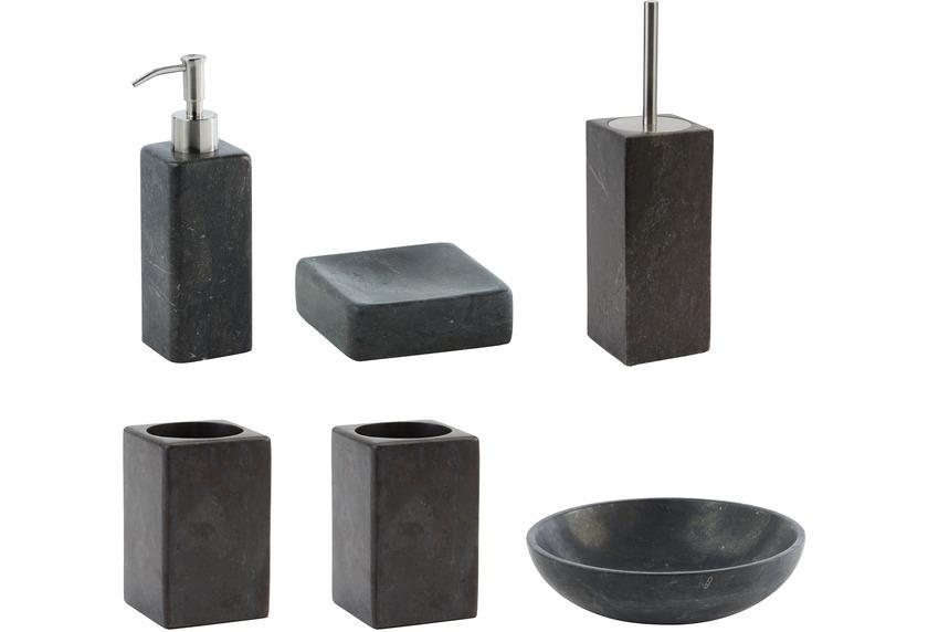 Aquanova Badaccessoires Set HAMMAM (bestehend aus Seifenspender, Schale, WC-Garnitur, Kosmetikablage, 2x Becher)
