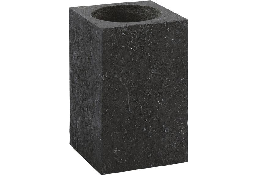 Aquanova SLATE Zahnbürstenhalter 09 schwarz 7,5 x 7,5 x 10 cm