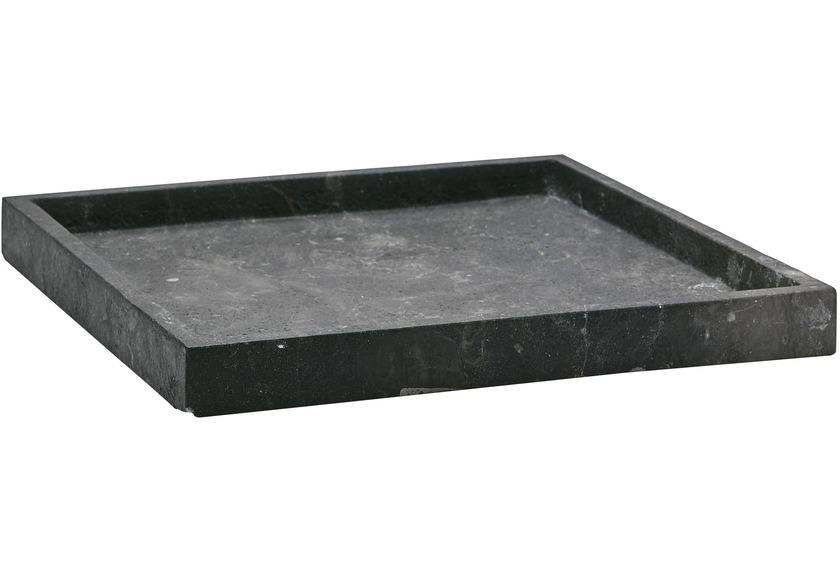Aquanova SLATE Tablett Karree 09 schwarz 30 x 30 x 3 cm