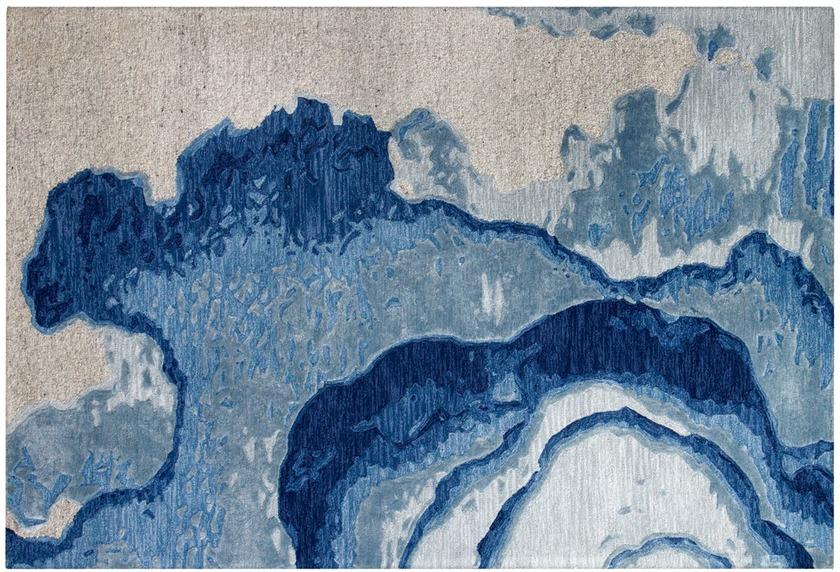 Arte Espina Teppich Damast 100 Blau