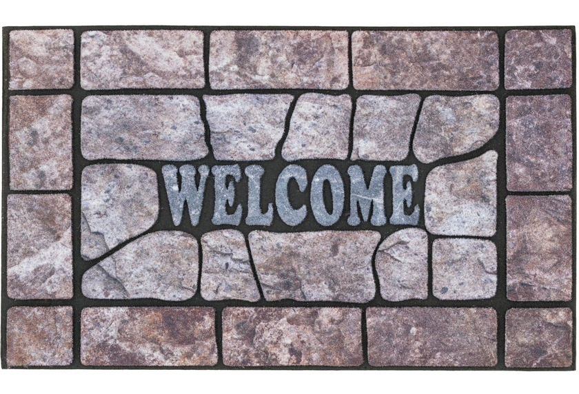 Astra Fussmatte Eco Fashion Steine Welcome grau 45x75