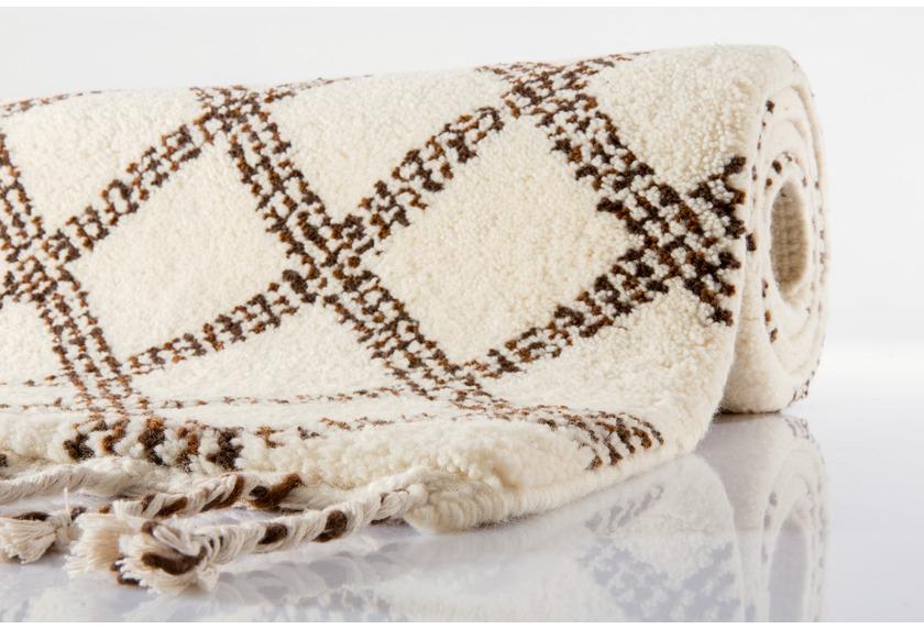 Tuaroc Berberteppich gemustert, Beni Ourain Midar 05, beige