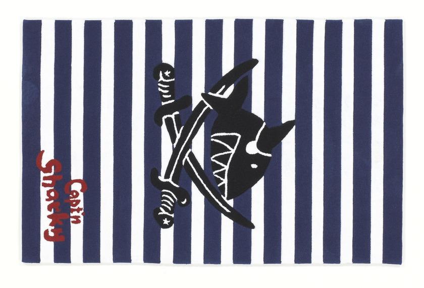 Capt\'n Sharky Kinder-Teppich, Käpt'n Sharky und das Säbelrasseln, Öko-Tex zertifiziert