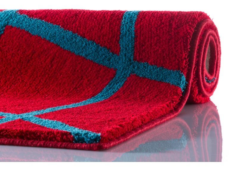 clarissa badteppich zoe rot t rkis dunkel badteppiche bei tepgo kaufen versandkostenfrei. Black Bedroom Furniture Sets. Home Design Ideas