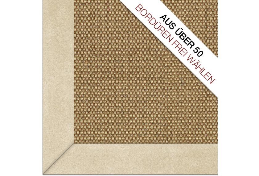DEKOWE  Sisalteppich Brasil Melange/braun COMBACK über 50 verschiedene Bordüren