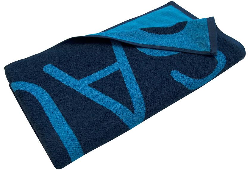 Dyckhoff Saunatuch Doubleface blau Liegetuch 80 x 200 cm