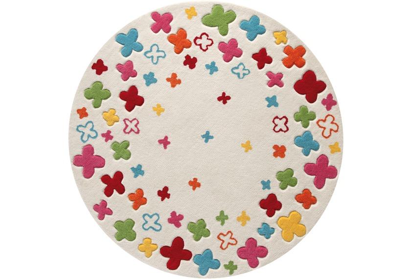 ESPRIT Kinder-Teppich, Bloom Field ESP-2980-01 beige, Öko-Tex 100 zertifiziert