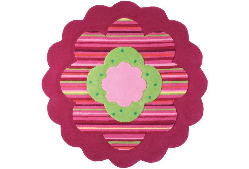 ESPRIT Kinderteppich, Flower Shape ESP-2840-06 rosa/pink, Öko-Tex 100 zertifiziert