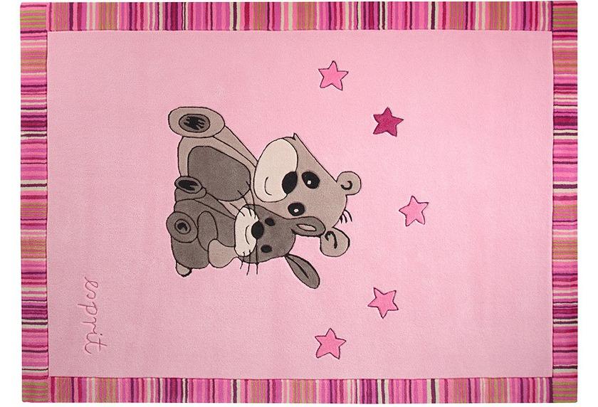 Neues Produkt am besten online große Auswahl an Farben und Designs ESPRIT Kinder Teppich, Little Best Friends ESP-3336-02 rosa/pink, Öko-Tex  100 zertifiziert