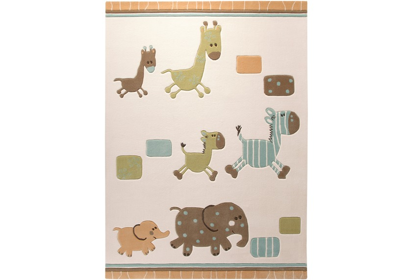 ESPRIT Kinder-Teppich, Lucky Zoo ESP-2842-03 beige, Öko-Tex 100 zertifiziert