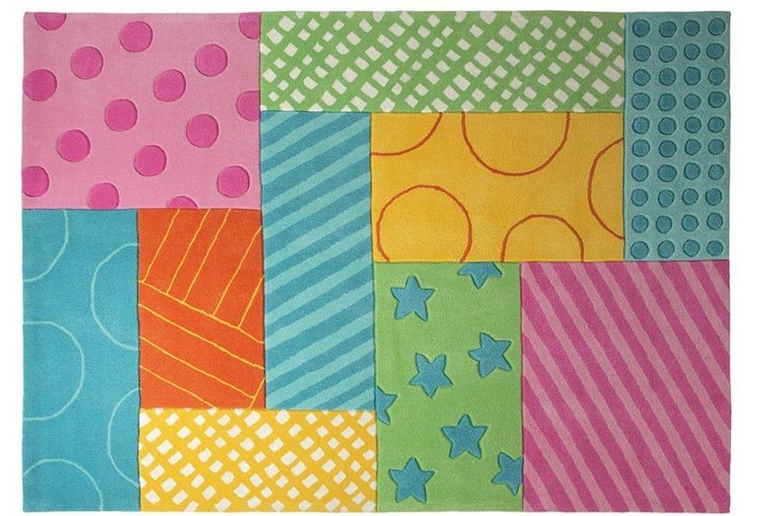 ESPRIT Kinderteppich Patchwork Garden ESP-3815-02