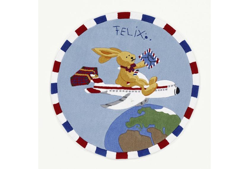 Felix der Hase Teppich Flieger Tiere Teppich Kinderteppich bei tepgo ...