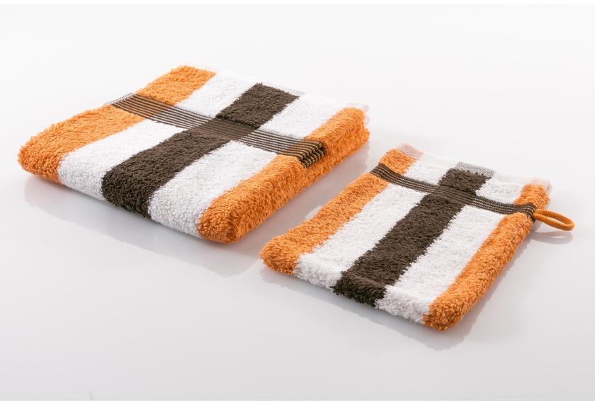 Gözze Frottierserie New York Streifen weiß/orange/mocca