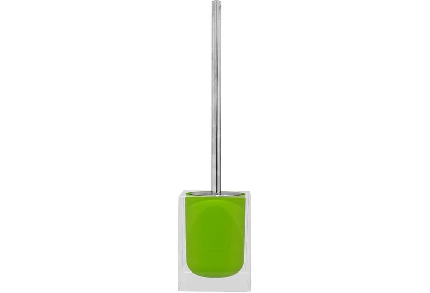GRUND WC-Bürstengarnitur CUBE, grün 9x9x37 cm