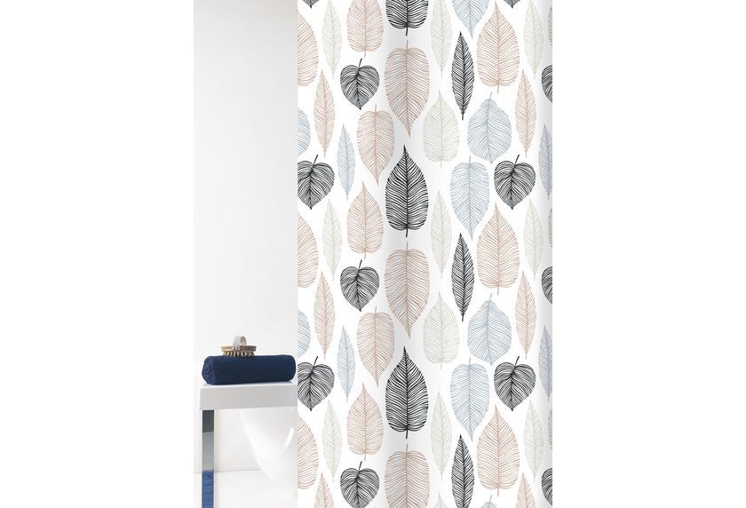 GRUND Duschvorhang Duetto weiß/braun 180x200 cm