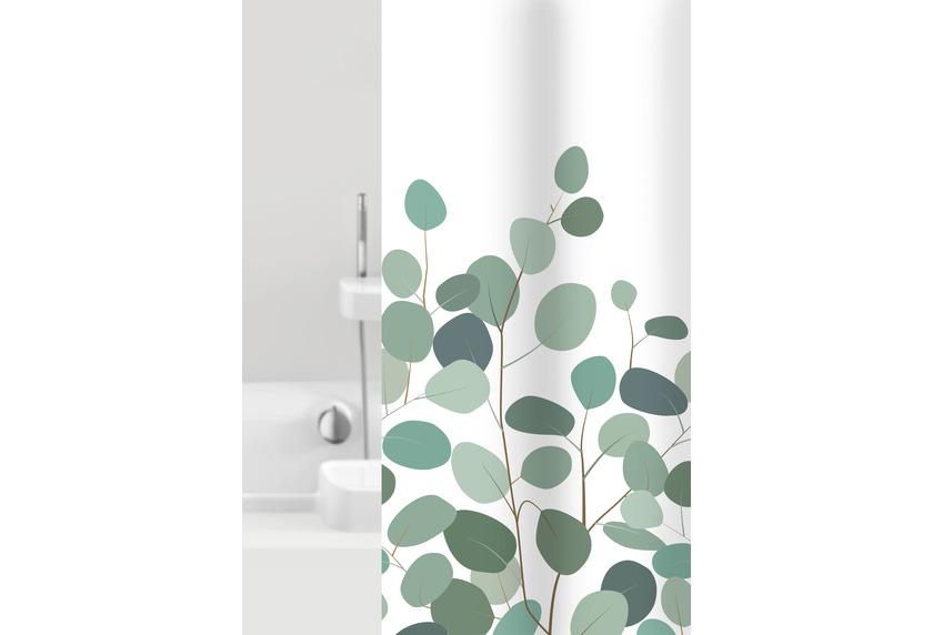 GRUND Duschvorhang Floral weiß/grün 180x200 cm