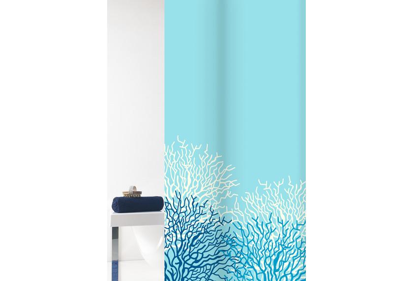 GRUND Duschvorhang Reef weiß/blau 180x200 cm