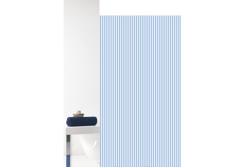 GRUND Duschvorhang Vertical weiß/blau 180x200 cm