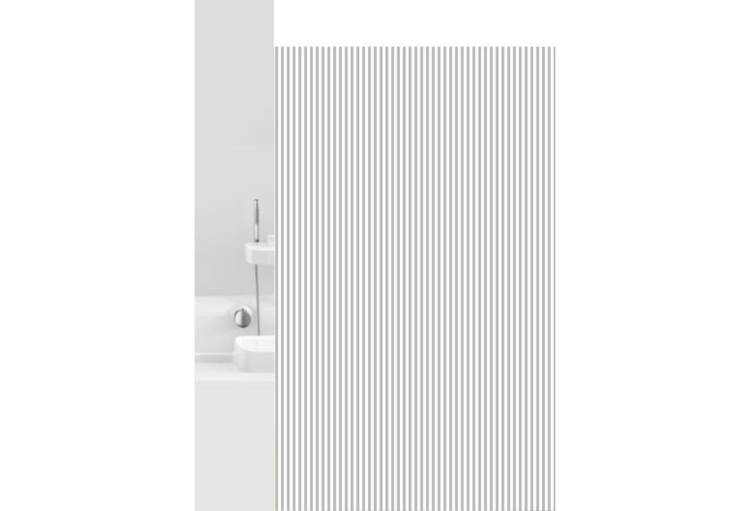 GRUND Duschvorhang Vertical weiß/grau 180x200 cm