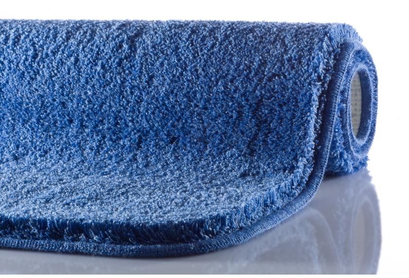 GRUND MELANGE Badteppich Jeansblau