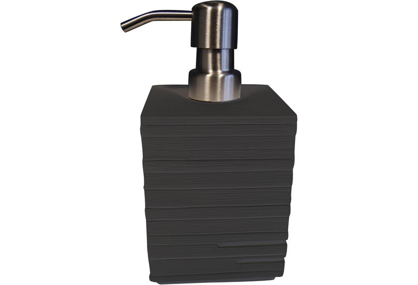 GRUND Seifenspender BRICK schwarz 8x8x16 cm