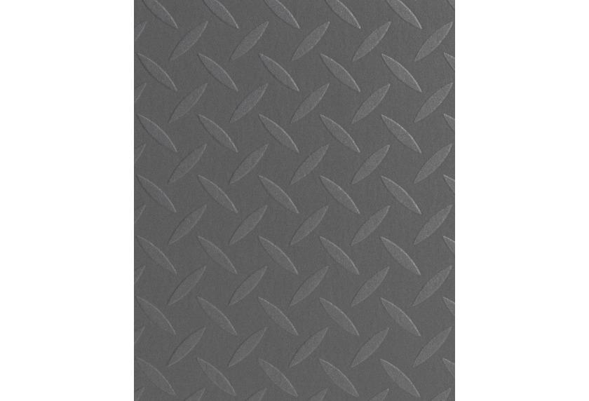 Hometrend HAMBO CV Vinyl Bodenbelag, Fliesenoptik Riffelblech silber