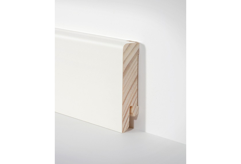 hometrend holz sockelleiste 16x60 mm weiss furniert lackiert 250 cm paketinhalt 2 5 m. Black Bedroom Furniture Sets. Home Design Ideas