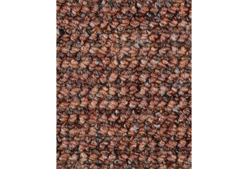 Hometrend ANEMONE/REVUE Teppichboden, Schlinge gemustert Ziegelrot