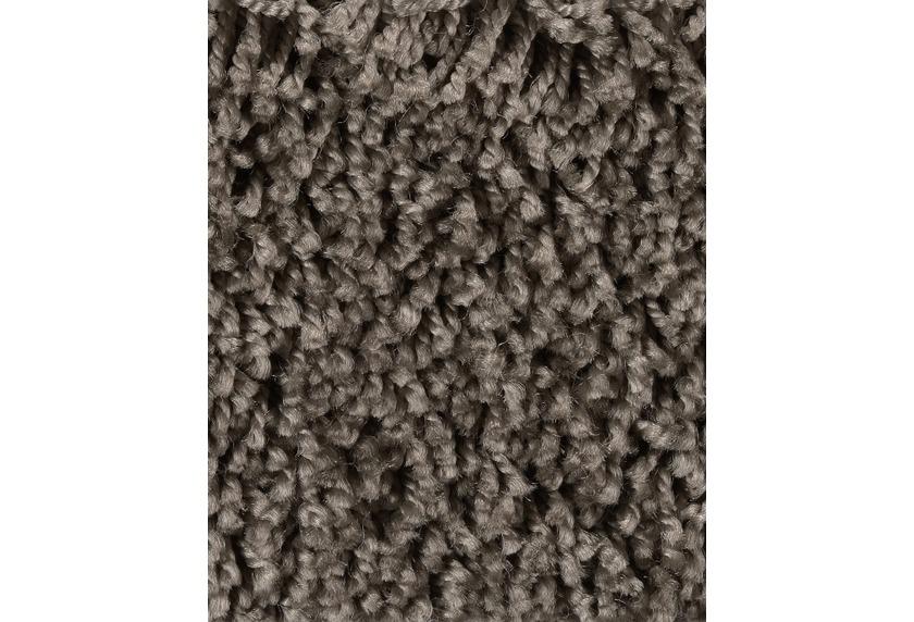 Hometrend CARLITA/GREASE Teppichboden, Shaggy Hochflor, dunkelbraun