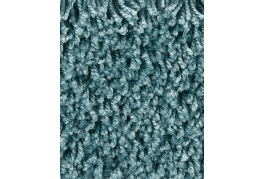 Hometrend CARLITA/GREASE Teppichboden, Shaggy Hochflor Mittelblau