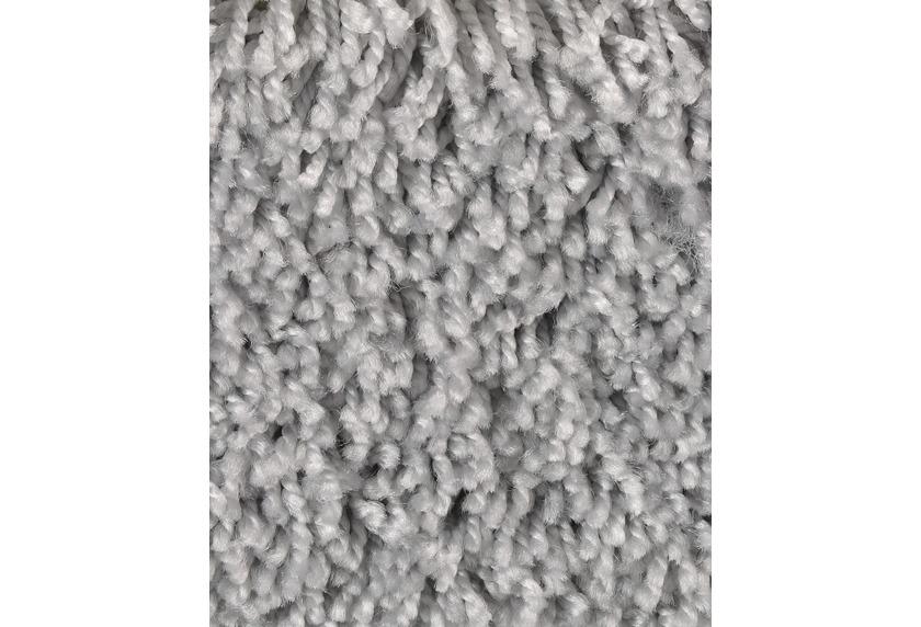 Hometrend CARLITA/GREASE Teppichboden, Shaggy Hochflor Silber