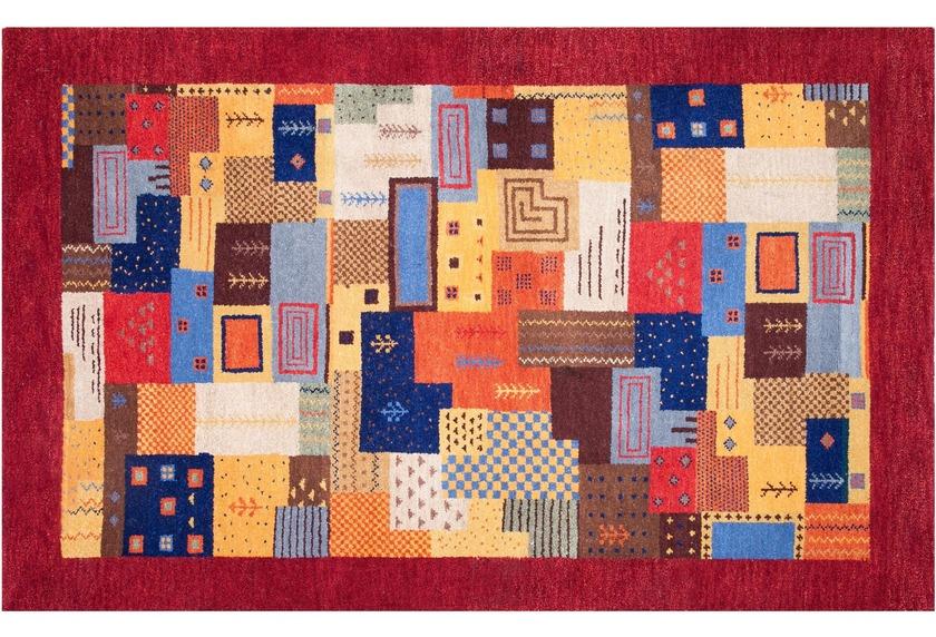 kelii gabbeh teppich nomad superior rot bei tepgo kaufen versandkostenfrei. Black Bedroom Furniture Sets. Home Design Ideas