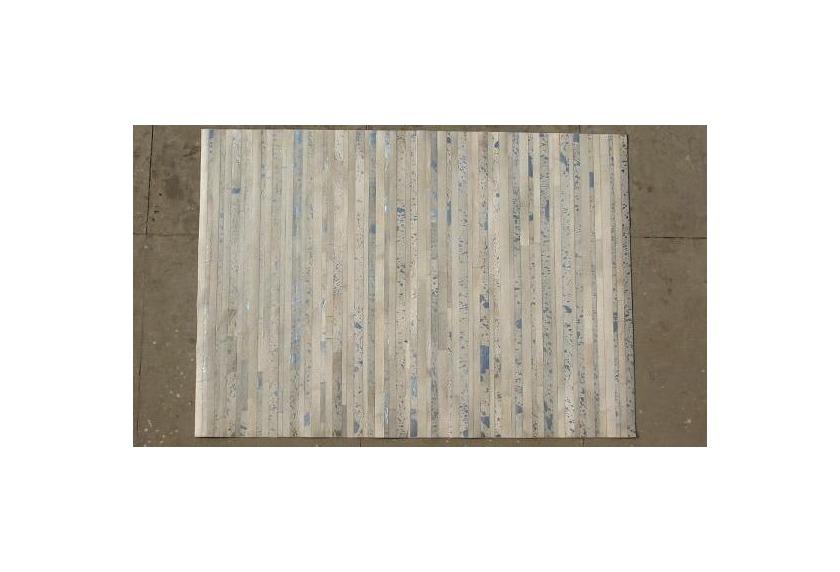 Kelii Leder-Teppich Luna Trend Aman III beige/grey