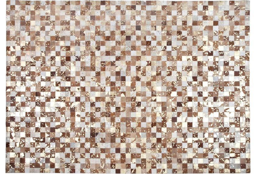 Kelii Leder-Teppich Luna Trend Chaman IV beige/brown
