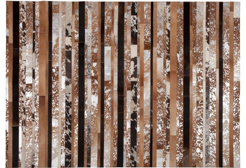 Kelii Leder-Teppich Luna Trend Stripe-16 natural/braun