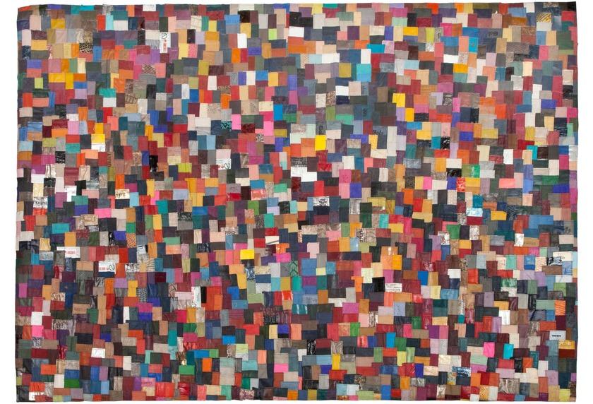 Kelii Patch Lederteppich Pattern multi