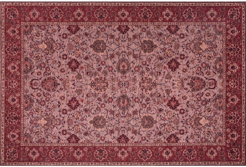 Kelii Vintage-Teppich Ziegler burgund