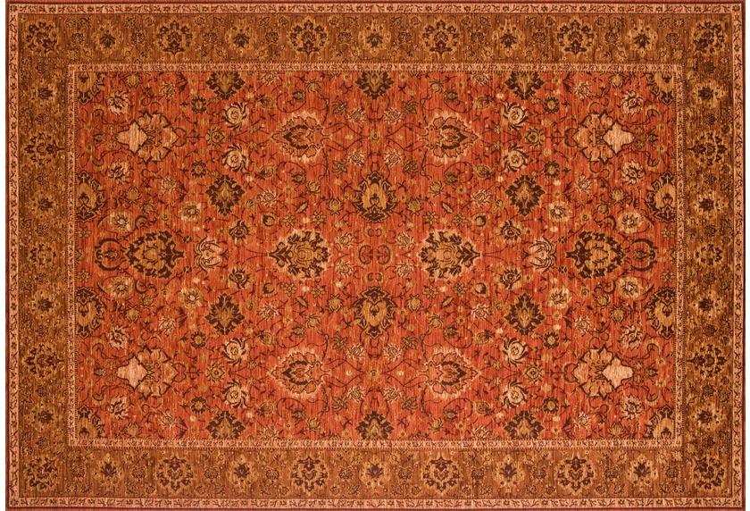 Kelii Vintage-Teppich Ziegler rost