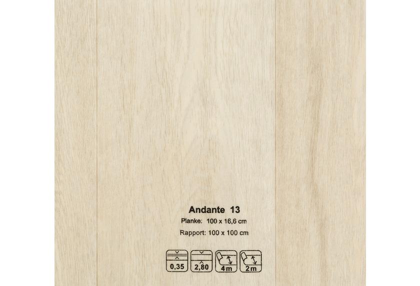 JOKA CV-Belag Andante - 13 Eiche Landhaus weiß grau