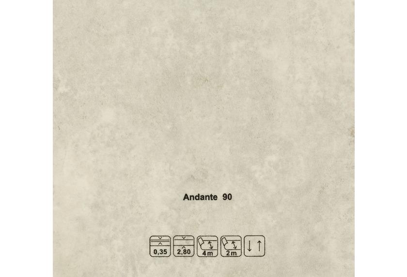JOKA CV-Belag Andante - 90 Marmor grau grau
