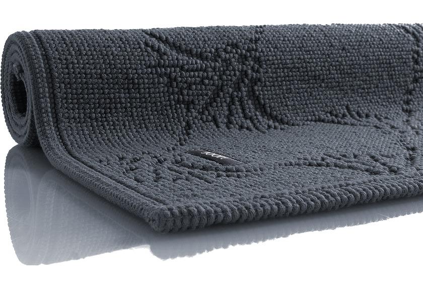 JOOP! Badezimmerteppich NEW CORNFLOWER anthrazit