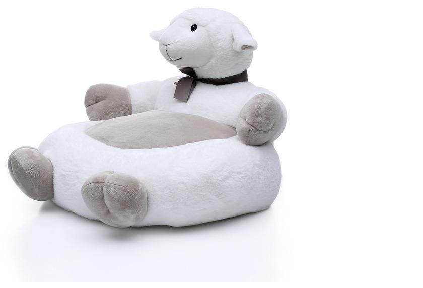 Kayoom Plüschsessel Sheep 208 Weiß / Grau