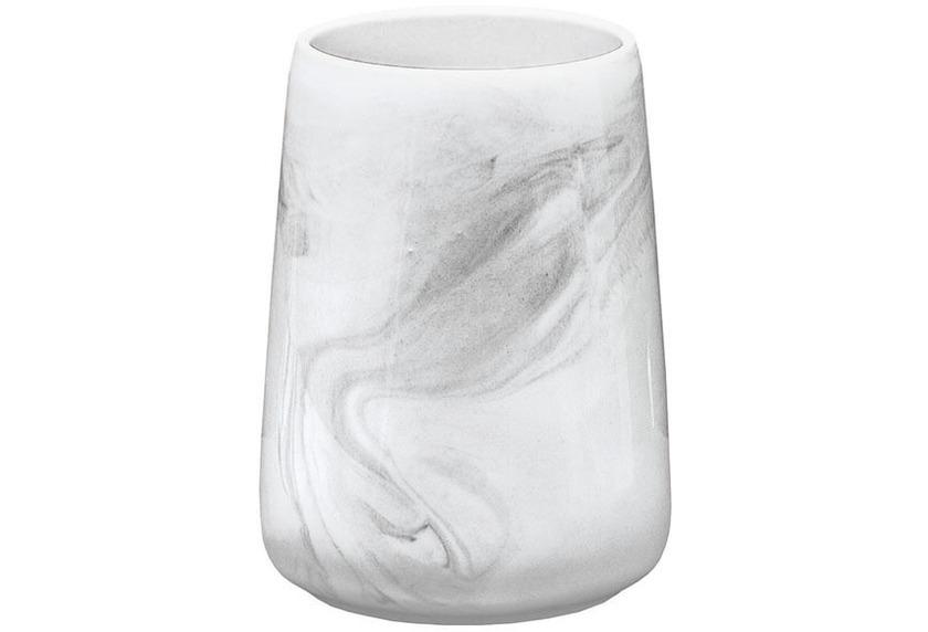 Kleine Wolke Accessoires Marble, Anthrazit Zahnputzbecher