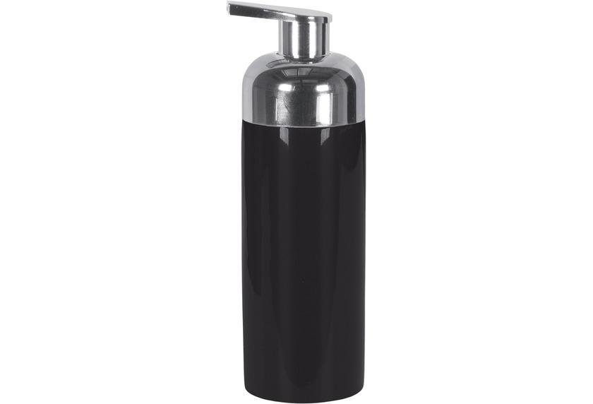 Kleine Wolke Accessoires Schaumseifenspender Pur Shiny, Schwarz 5,5 x 16,5 cm