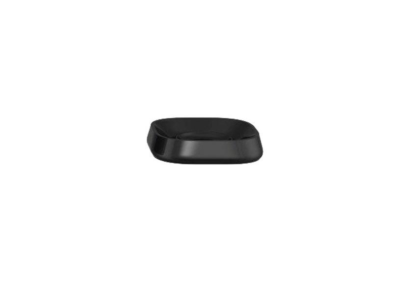 Kleine Wolke Accessoires Seifenschale Trixy, Schwarz 2,5 x 11 cm