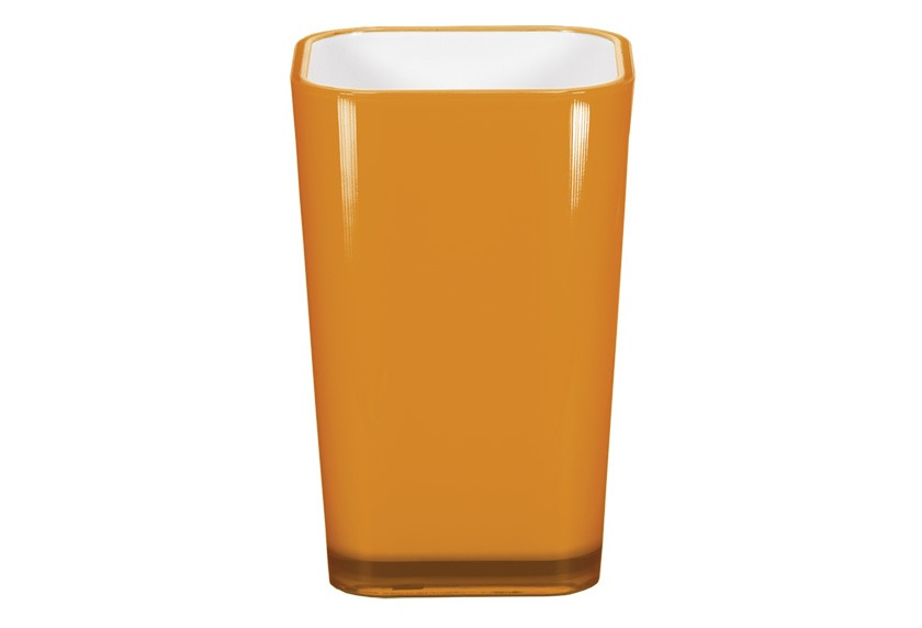 Kleine Wolke Accessoires Zahnputzbecher Easy, Orange 11 x 7 cm
