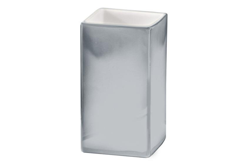Kleine Wolke Accessoires Zahnputzbecher Glamour, Silber 10 x 6 cm