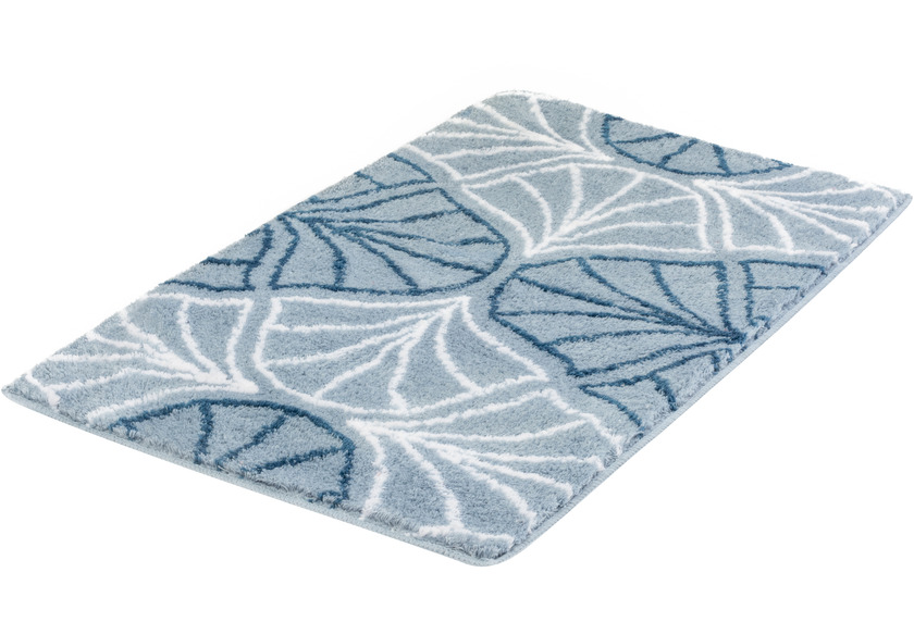 Kleine Wolke Badteppich Bloom Stahlblau