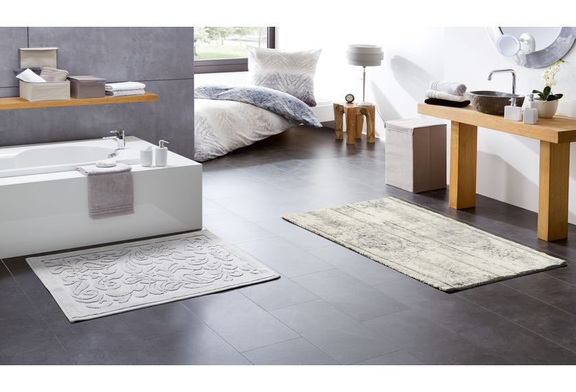 kleine wolke badteppich caracas silbergrau ebay. Black Bedroom Furniture Sets. Home Design Ideas